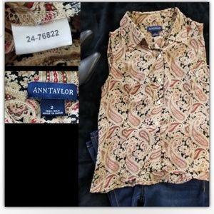 Ann taylor silk blouse size 2